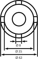 Tappnyckel växellådsfläns MB