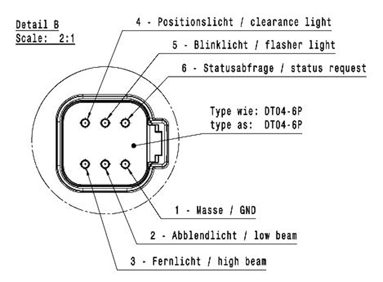 Strålkastare vä LED 9-32V