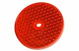Reflex röd 68mm Ø självhäftand