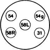 Stickdosa 5-polig skruv metall