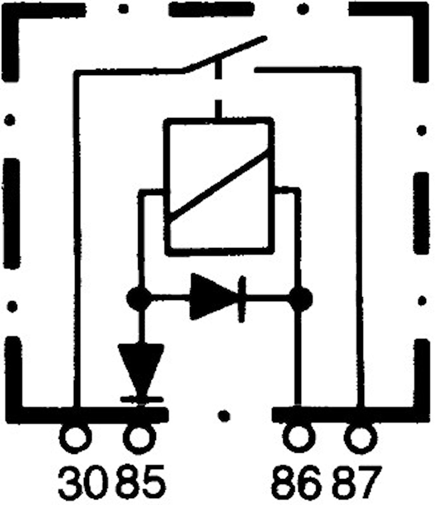 Skiljerelä 12V 60A med fäste