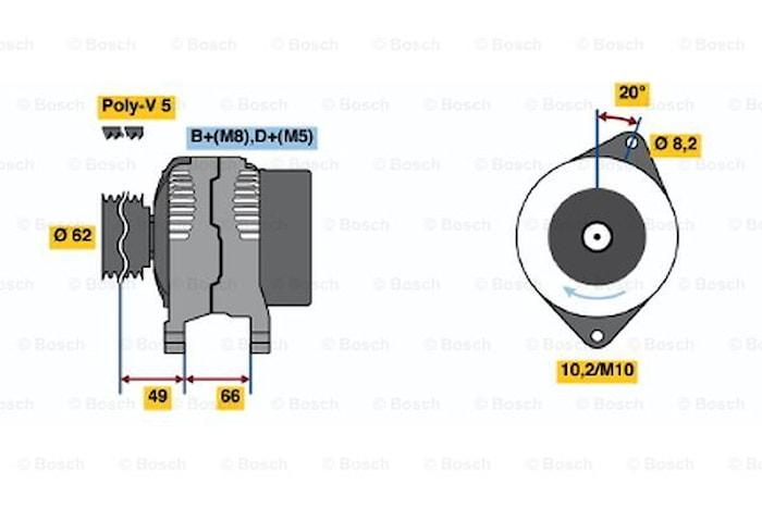 Generator utbytes 14V/80A