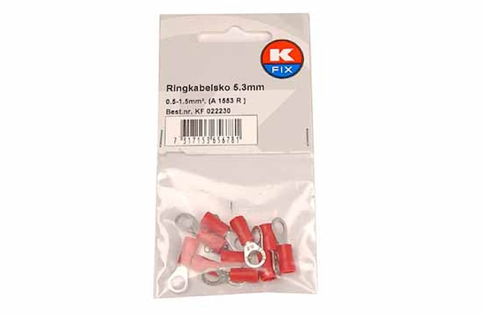 Ringkabelsko 5,3mm röd