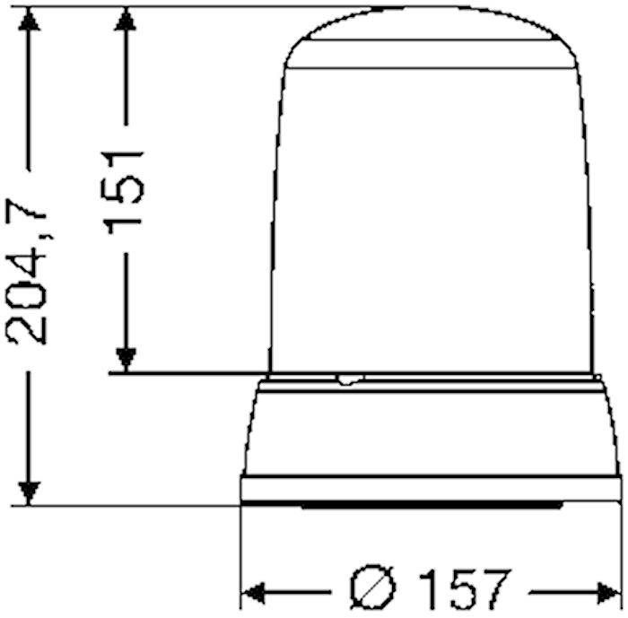 Blixtfyr 12V gul KLX 7000 M