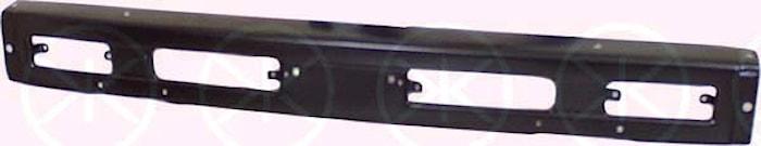 Stötfångare fram svart -92