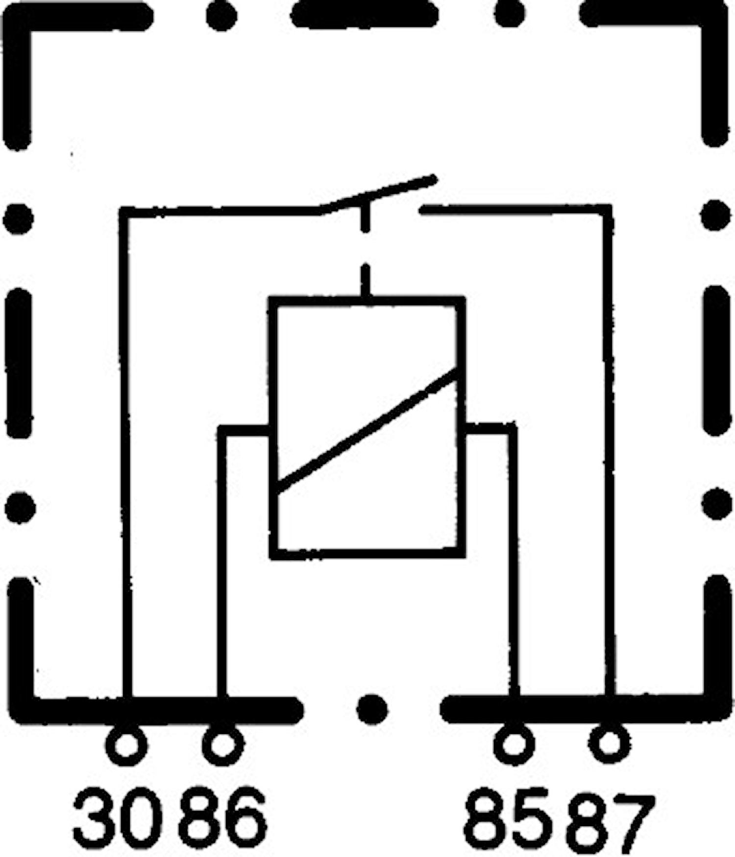 Enkelrelä 12V 30A med fäste