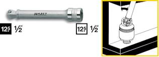 Förlängare med kula 123mm