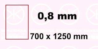 Plåt 700x1200x0,8 mm