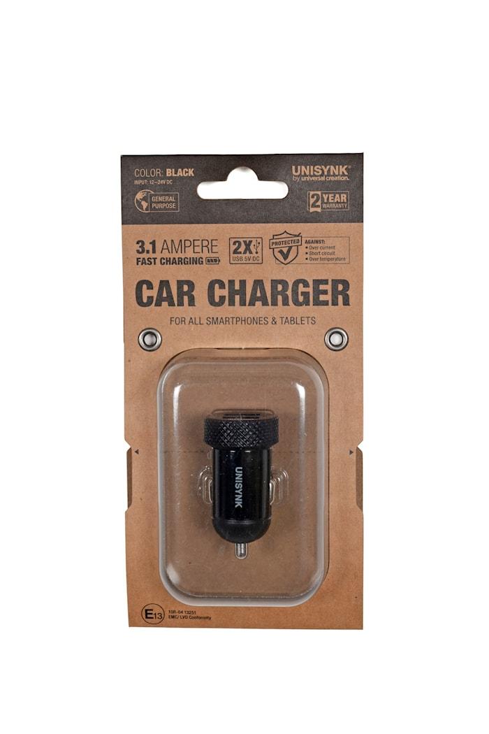 USB laddare 3,1A, 12-24V