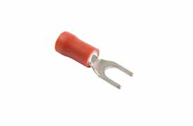 Gaffelkabelsko 4,3mm röd