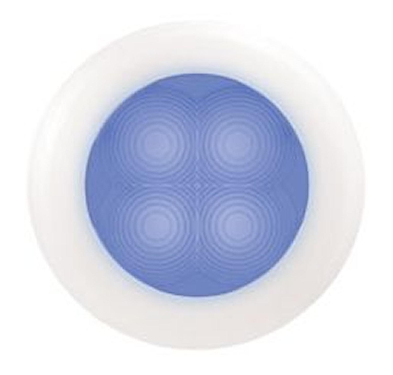 Flushbelysn 24V LED blå 75mm Ø