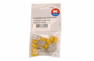 Flatstifthylsa 9,5x1,2mm gul