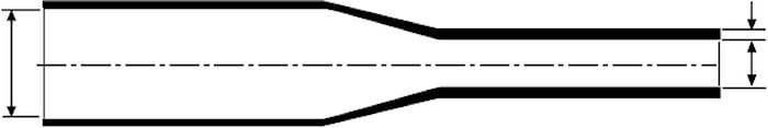Krympslang m. lim 3-1, transp.