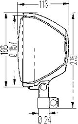 Strålkastare f påbyggn 166mm Ø