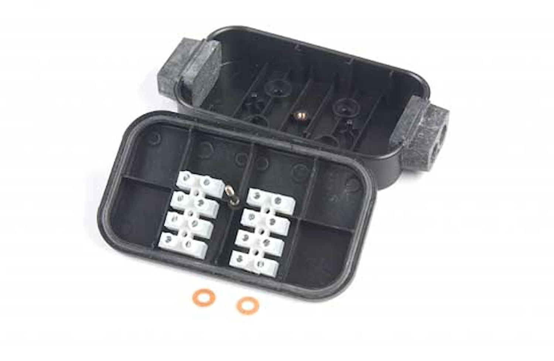 Kabelförbindn.box 8-pol skruv