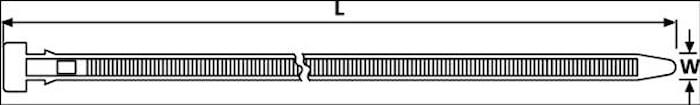 Buntband 370x7,6mm (1=100st)