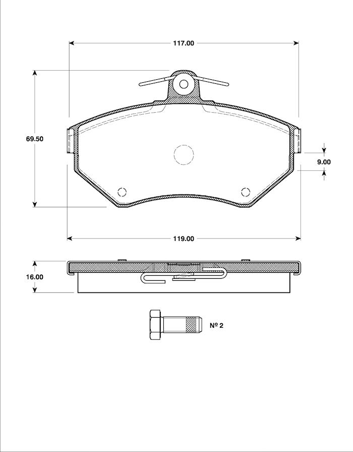 Belägg HP T5095