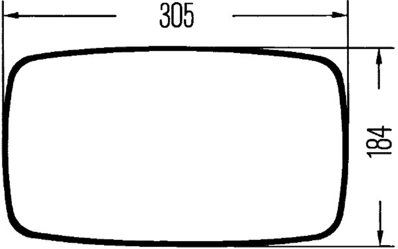 Ytterspegel 24V 367x182mm