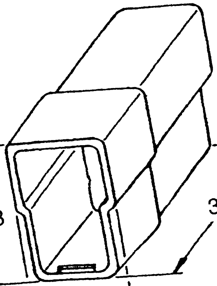 Stiftisolator 2-pol. vinklad