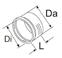 Adapter Ø55x55 mm