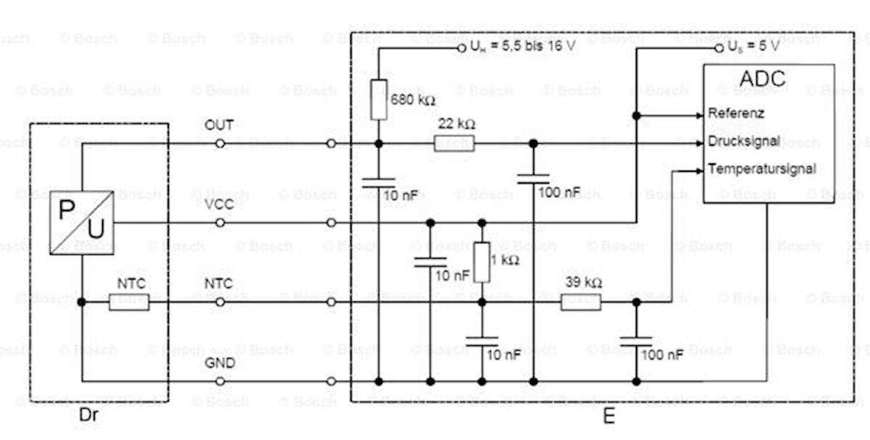 Tryck/temperatursensor