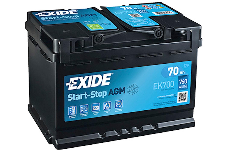 Batteri Exide AGM 70Ah