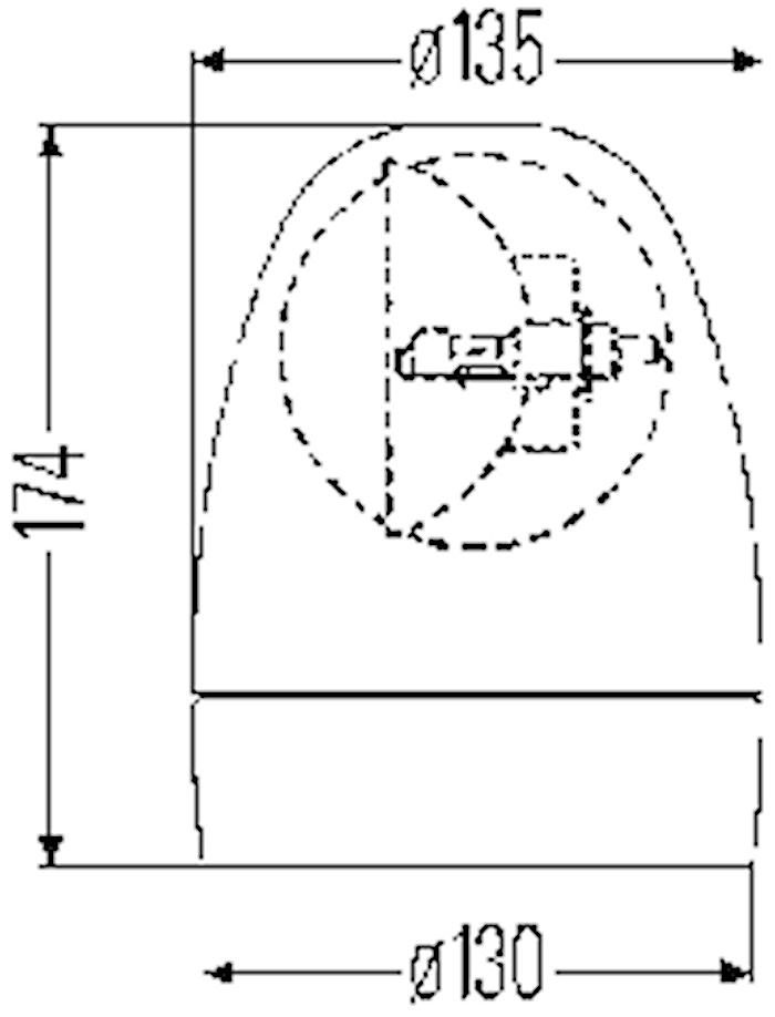 Varningsfyr 12V gul Rotafix M