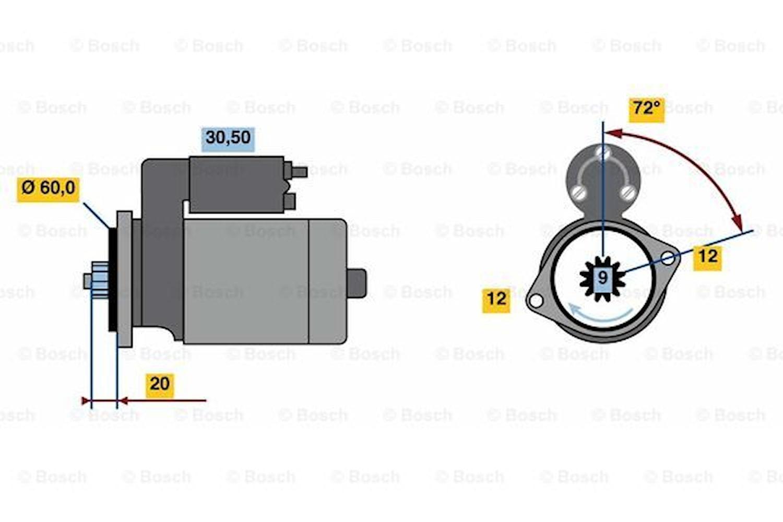 Startmotor utbytes 24V/3,2kW
