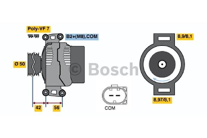 Generator utbytes 14V/180A