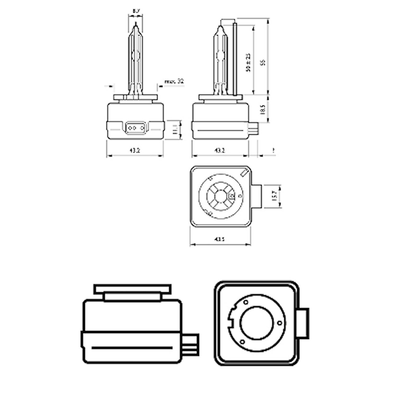 Gasurl.lampa D1S WhiteVision