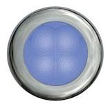Flushbelysn 12V LED blå 75mm Ø