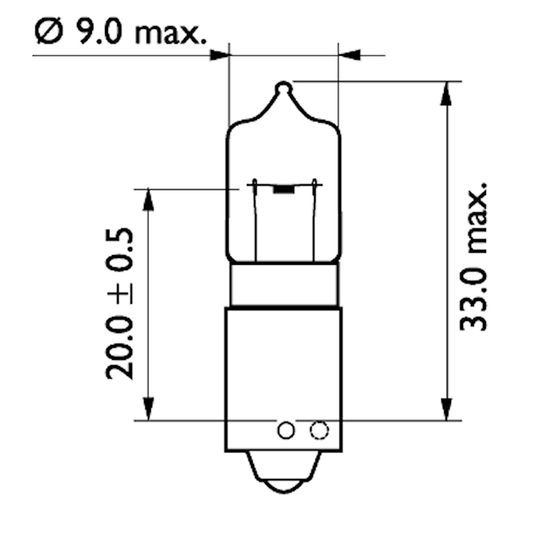 Halogenglödlampa 24V 21W BAY9s
