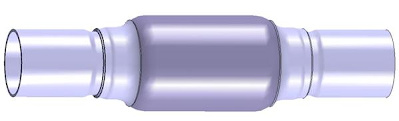 Flexrör 51x51x280