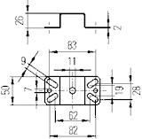 U-bygel för däck-/arbetsstrålk
