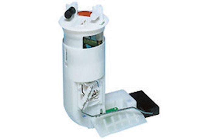 Pump med behållare