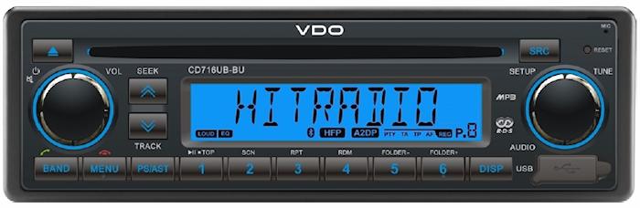 Bilstereo CD/Radio/USB/BT blå