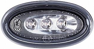 Sidomark.lykt 12V LED silv v/h