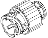 Stiftisolator VKS/DIN 4-polig