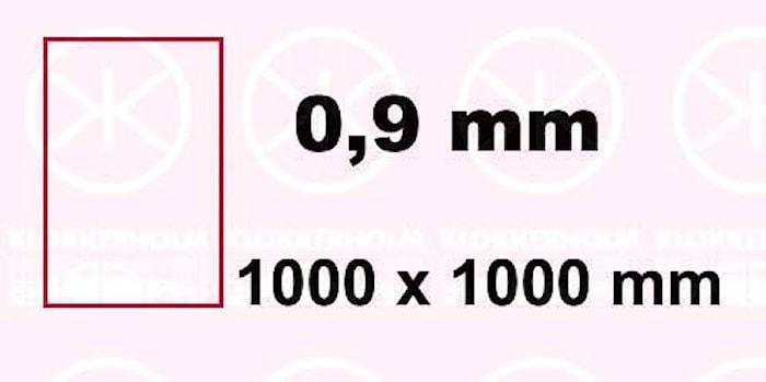 Plåt 1000x1000x0,9mm