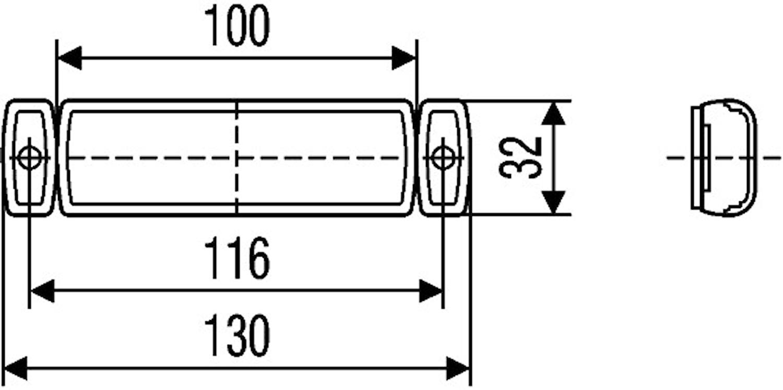 Baklykta 12V LED med reflex