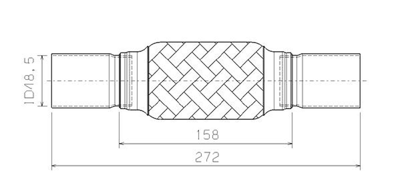 Flexrör 48,5x158x272