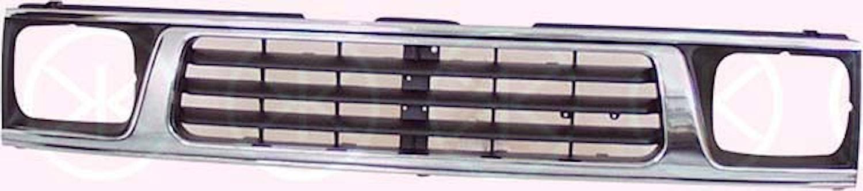 Kylargrill svart/krom 93-