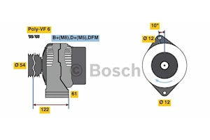 Generator utbytes 14V/130A