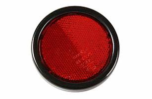 Reflex röd 95mm Ø med skruv M5