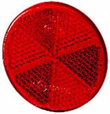 Reflex röd 60mm Ø självhäftand