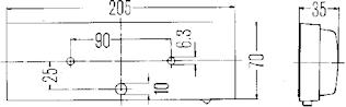 Innerbelysn 205x70mm m strömbr