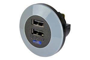 USB laddare dubbel 12/24V 3,0A