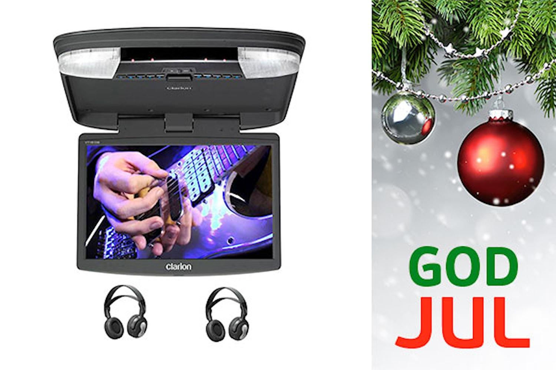 """Takskärm 15,6"""" DVD/USB/SD"""