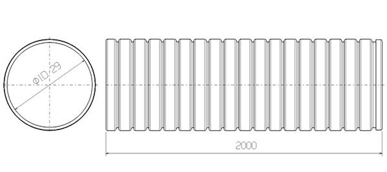 Flexrör 29x2000