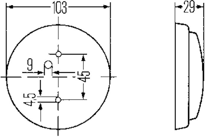 Innerbelysn 103mm Ø m strömbr